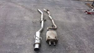 """240sx S13 Exhaust 3"""" Stainless Cat-Back w/ 4"""" tip"""