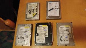 5 disque dur de 8G à 250G et 4 lecteur graveur IDE ET SATA