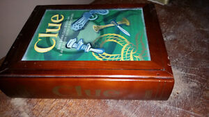 CLUE, RISK & YAHTZEE BOARD GAMES IN WOODEN BOXES