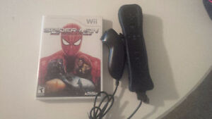 Wii Remote with Motion Plus and Nunchuk + Spiderman Wii game