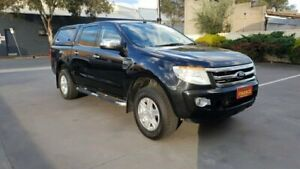 2012 Ford Ranger PX XLT 3.2 (4x4) Black Mica 6 Speed Automatic Dual Cab Utility Melrose Park Mitcham Area Preview