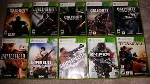 XBOX 360 Shooter Action Games (Various Prices)