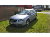 Audi a3 2.0 tfsi s-line, auto paddle shift, fully loaded, new m.o.t, sat nav,leather, drives great