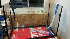 20 Gallon beveled edge premium fish tank + all accessories