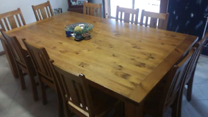 10 person Solid Timber dining table and  10 Chairs Berri Berri Area Preview