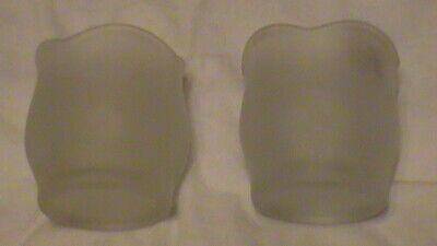 Vintage Frosted Satin Glass Votive Candle Holder - Tulip Shaped, PAIR, 27