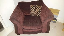Large dfs armchair V good condition free!