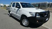 2015 Toyota Hilux KUN26R MY14 SR Double Cab Glacier White 5 Speed Automatic Cab Chassis Bassendean Bassendean Area Preview