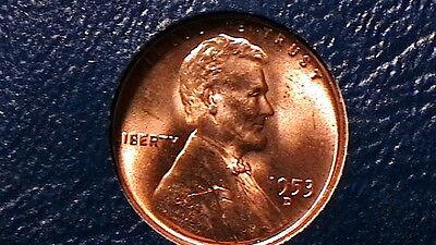 1953-D BRILLIANT UNCIRCULATED LINCOLN CENT  RED BEAUTY  893RL