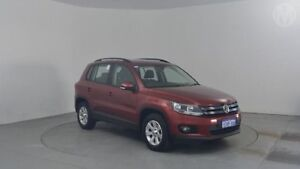 2013 Volkswagen Tiguan 5NC MY13 132 TSI Pacific Wild Cherry Red 6 Speed Automatic Wagon Perth Airport Belmont Area Preview