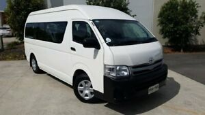 2011 Toyota HiAce TRH223R MY11 Commuter High Roof Super LWB White 4 Speed Automatic Bus