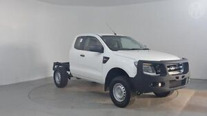 2012 Ford Ranger PX XL 2.2 HI-Rider (4x2) Cool White 6 Speed Automatic Super Cab Chassis Perth Airport Belmont Area Preview