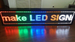 LED programable display sign