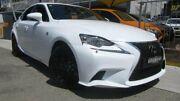 2013 Lexus IS250 GSE30R F Sport White 6 Speed Automatic Sedan Homebush Strathfield Area Preview