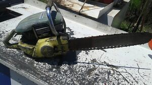 2 ANTIQUE PIONEER CHAIN SAWS FOR PARTS OR REBUILD