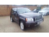 Jeep grand cherokee limited edition 2004 long mot in super condition