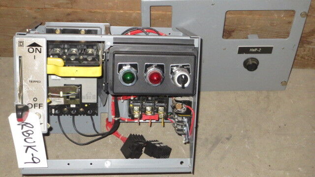 "SQUARE D 12"" MCC BUCKET 7 AMP FHP BREAKER 480 VAC WITH NEMA SIZE 1 STARTER"