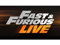 2x Fast & Furious Live Tickets @ The O2 Arena - 21st Jan 2018