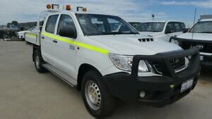 2014 Toyota Hilux KUN26R MY14 SR Double Cab Glacier White 5 Speed Automatic Cab Chassis Broadwood Kalgoorlie Area Preview