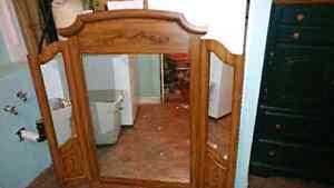 Mirror for a long dresser