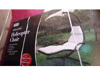 Garden chair/relaxer with umbrella