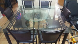 moving sale 6 chair dining table set for sale or best offer