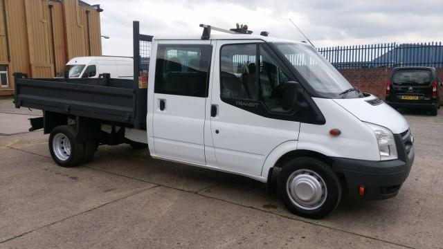2011 61 FORD TRANSIT 2.4 350 DRW 1D 100 BHP 2 OWNER 6 SEATER CREW CAB TIPPER