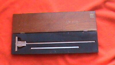 Browne Sharpe Providence Ri Vintage Measuring Tool With Mahogany Wood Case