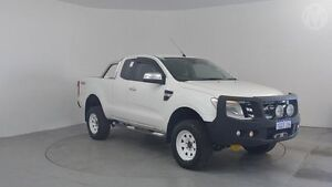 2014 Ford Ranger PX XLT Super Cab Cool White 6 Speed Sports Automatic Utility Perth Airport Belmont Area Preview