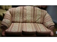 Three piece settee and footstool