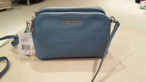 Michael Kors Blue Leather Crossbody