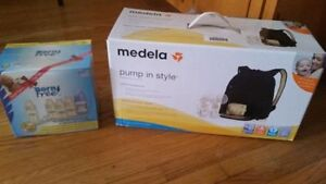 Breastpump with free Baby Bottle new in box never used