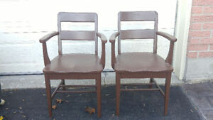 2 Heavy,Solid Wood Chairs