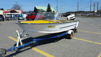 15' ALUMINUM HULL, 50HP JOHNSON, TRAILER, PAPERS INCLUDED!