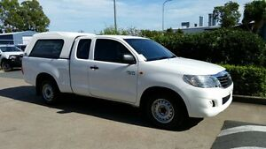2011 Toyota Hilux GGN15R MY12 SR Xtra Cab Glacier White 5 Speed Automatic Utility Acacia Ridge Brisbane South West Preview