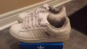 Men's Adidas Classic All White Shoes!!