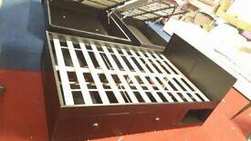 x3 black 4ft Pula Storage Bed Frame brand new
