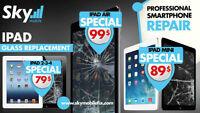 Réparation Vitre cassé, iPad  iPhone, Samsung, LG, Sony, Nexus,.