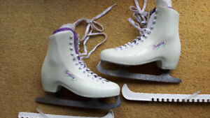 "FEMALE SIZE 6, LANGE Model ""FANTASY"" FIGURE ICE SKATES, MOLDED"