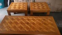 Coffee Table and 2 End Tables for Sale