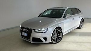2014 Audi RS4 B8 8K MY14 Avant S tronic quattro Silver 7 Speed Sports Automatic Dual Clutch Wagon Hobart CBD Hobart City Preview