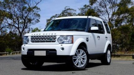 2013 Land Rover Discovery 4 Series 4 L319 MY13 TDV6 White 8 Speed Sports Automatic Wagon Hobart CBD Hobart City Preview