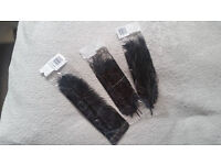 3x feathers fun black, new , never used