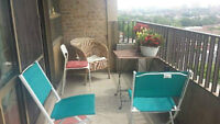 Balcony/Patio chairs and table