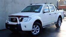 2012 Nissan Navara D40 S5 MY12 ST-X 550 White 7 Speed Sports Automatic Utility Hobart CBD Hobart City Preview