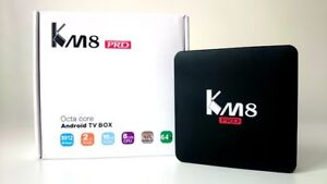 KM8 PRO Android TV Box Brand NEW