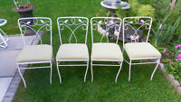 4 metal chairs VINTAGE or best offer