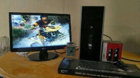 Fast SSD HP 8000 Elite Business PC Desktop Computer & LG Flatrun 22 LCD