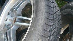 Complete set of 4 universal rims  and tires
