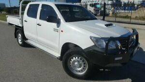 2014 Toyota Hilux KUN26R MY14 SR Double Cab Glacier White 5 Speed Automatic Cab Chassis Bunbury Bunbury Area Preview
